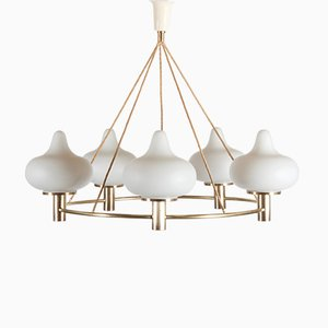 Chandelier by Mogens Hammer & Henning Moldenhawer for Louis Poulsen, 1950s
