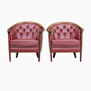 Leather Armchairs from Bröderna Andersson, 1960s, Set of 2