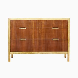 Mid-Century Swedish Teak and Birch Chest of Drawers from Forenades Mobler