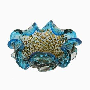 Cenicero vintage de cristal de Murano