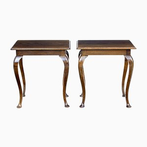 Oak Occasional Tables, 1920s, Set of 2