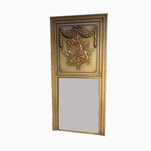 Französischer vergoldeter Trumeau Spiegel, 1890er