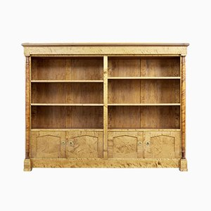 Large Art Deco Birch Scandinavian Bookcase, 1930s