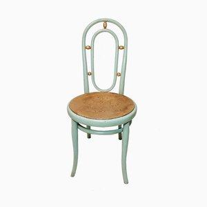 Chaise Vintage Peinte à la Feuille d'Or de Thonet