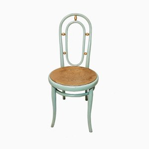 Vintage Painted Gold Leaf Chair from Thonet