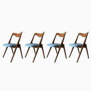 Sillas de teca de Albin Johansson & Sons, años 60. Juego de 4