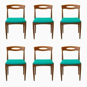 Esszimmerstühle aus Teak von Johannes Andersen für Uldum, 1960er, 6er Set