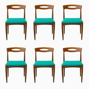 Teak Dining Chairs by Johannes Andersen for Uldum, 1960s, Set of 6