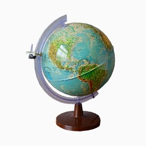 Vintage Glowing Earth Globe