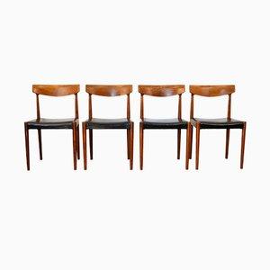 Chaises de Salle à Manger Vintage en Teck par Knud Faerch pour Slagelse Møbelværk, 1960s, Set de 4