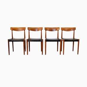 Vintage Teak Dining Chairs by Knud Faerch for Slagelse Møbelværk, 1960s, Set of 4