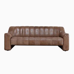 Sofá de tres plazas DS-44 vintage de cuero de de Sede