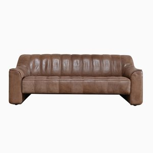 Vintage DS-44 Neck Leather Three-Seater Sofa from de Sede