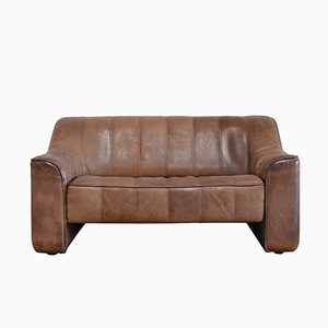 Vintage DS-44 Neck Leather Two-Seater Sofa from de Sede