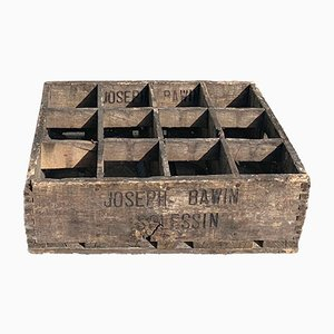 Vintage French Wooden Crate, 1940s
