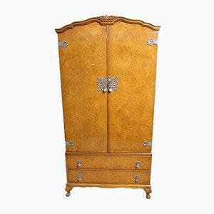 Kleiderschrank aus Nusswurzelholz von Maple & Co, 1920er