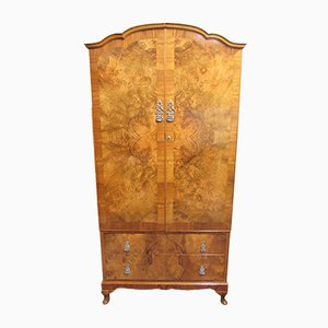 Burr Walnut Two-Door Wardrobe, 1920s
