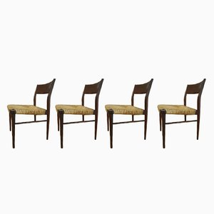 Model 351 Dining Chairs by Georg Leowald for Wilkhahn, 1950s, Set of 4