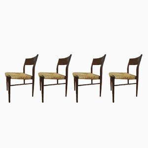 Modell 351 Esszimmerstühle von Georg Leowald für Wilkhahn, 1950er, 4er Set