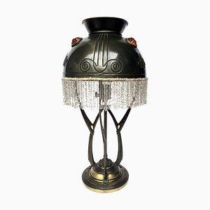 Lampe de Bureau Sécessionniste en Verre, Autriche, 1900s