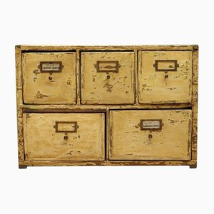 Antique Industrial Bank of Drawers