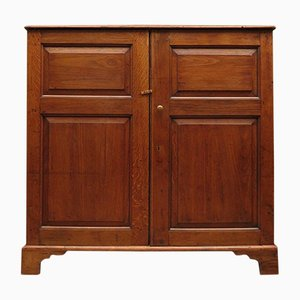 Antique Oak Linen Press