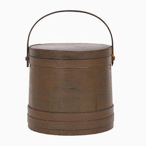 Cubo danés antiguo de madera