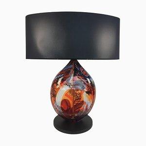 Rote herzförmige Tischlampe von Eros Raffael