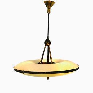 Lámpara de techo italiana de Fontana Arte, años 50