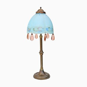 Große antike Tischlampe im Jugendstil