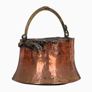 Jarrón danés de cobre, década de 1800