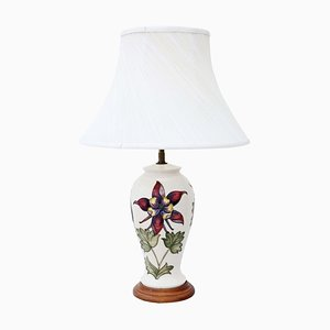 Ceramic Table Lamp with Shade from Moorcroft