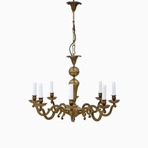 8 Lights Ormolu Brass Chandelier