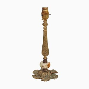 Ormolu Brass Onyx Table Lamp, 20th Century
