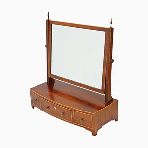 Antique Georgian Mahogany Dressing Table Swing Mirror, 1810s
