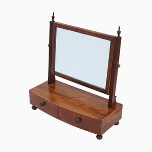 Miroir à Poser Pivotant Regency Antique en Acajou, 1825