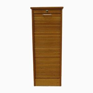 Oak Tambour Front Cabinet, 1950s
