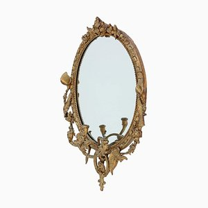 Early 19th Century Gilt Girandole Wall Mirror