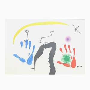 Coleurs a l'Improviste Double-Sided Lithograph by Joan Mirò for Maeght, 1971