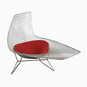 Chaise longue asimétrica de Harry Bertoia para Knoll, 2006