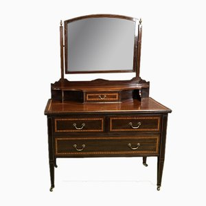 Vintage English Mahogany Dressing Table