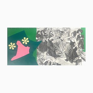 Doppelseitige Les Demoiselles d'Avignon Lithografie von Enrico Baj für Rosseau, 1972