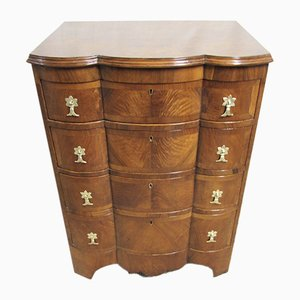 Queen Anne Style Burr Walnut Chest of Drawers, 1890s