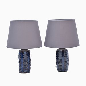 Vintage Model 1034 Blue Table Lamps from Søholm, Set of 2