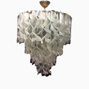 Lampadario in vetro di Murano, anni '70