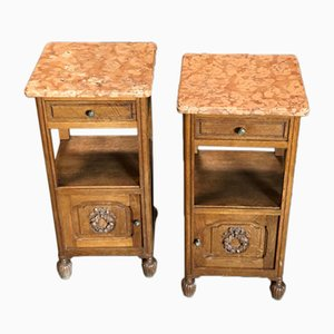 French Bedside Cabinets, 1910s, Set of 2