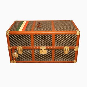 Vintage Double Hanging Section Steamer Trunk from Goyard