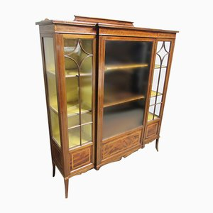 Mahogany Inlaid Display Cabinet from Maple & Co, 1900s