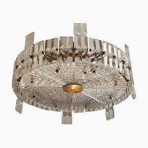 Lampadario grande Mid-Century moderno in cristallo di Carl Fagerlund per Orrefors