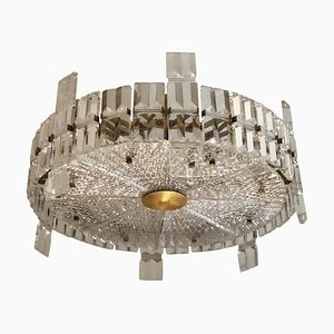 Large Mid-century Modern Chrystal Chandelier by Carl Fagerlund for Orrefors